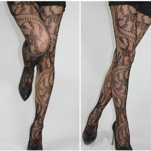 0cbe35f8f8a Accessories - Swirl Design Fishnet Tights Stockings Pantyhose